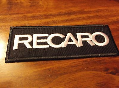 2 RECARO RACING SEATS BOSS SALEEN patch LOGO embroidered - black / white SEW