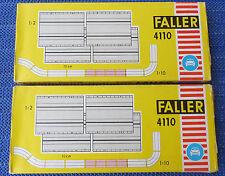 2 x Faller AMS 4110--  Gerade 10 cm in OVP  !