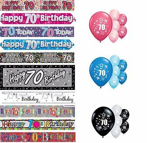 70th-BIRTHDAY-BANNERS-PINK-BLUE-BLACK-MULTI-PARTY-DECORATIONS