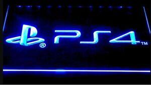 PS4-Playstation-4-LED-Neon-Bar-Sign-Home-Light-up-Pub-mancave-game-room-arcade