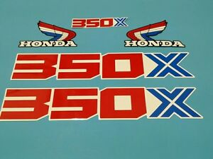 HONDA 1986 ATC350X REAR FENDER DECAL LIKE NOS OEM GRAPHICS