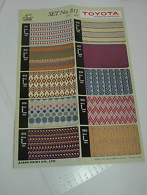 Pre Punched Pattern Card Sets Toyota 858 Knitting Machines 12 Stitch T176.P811