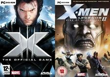 x-men the official game & x men legends 2 rise of apocalypse    new&sealed