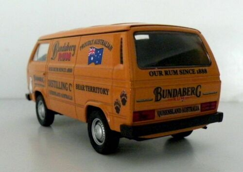 VW T3 Van Bundy Custom Graphics Applied Yellow Diecast Van