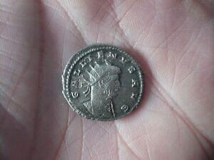 Dernier-Romain-Empereur-GALLIEN-argent-massif-2-05-cm-de-diametre-3-5-Grs