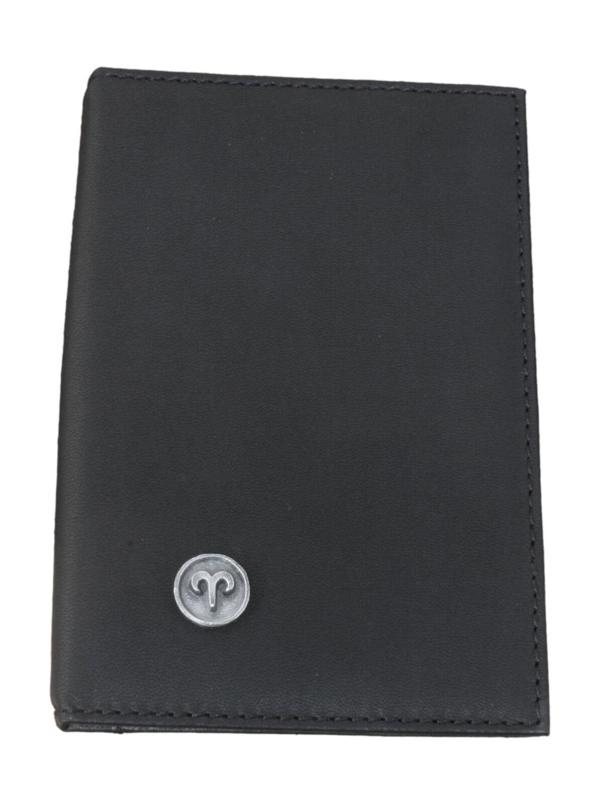 Aries Zodiac Black Leather Shotgun/Firearms Certificate Holder 12
