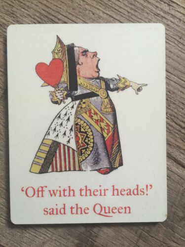 ALICE IN WONDERLAND COASTER MATCHES OUR BOOKS /& BAGS NEW IN CELLO RED QUEEN