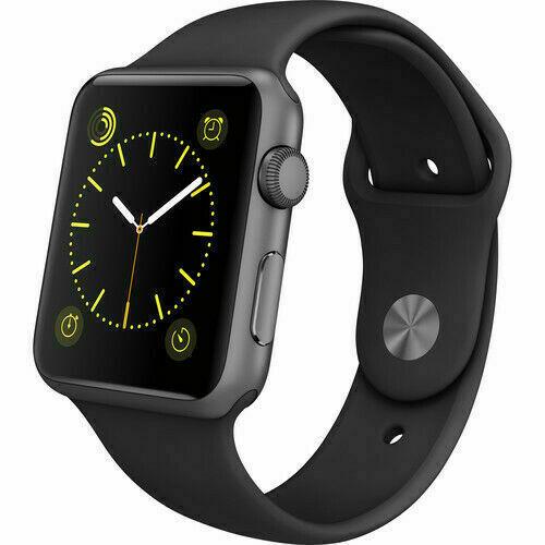 Apple Watch Series 1 42mm Space Gray Aluminum Black Smart Watch Nj3t2lla For Sale Online Ebay