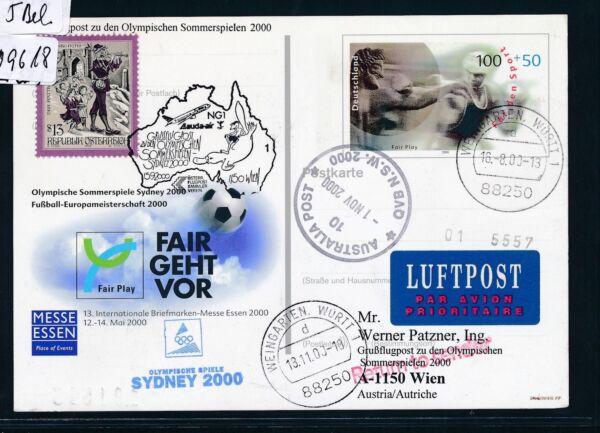 09618) Lauda Olympiades Pour Lp Vienne-sydney 15.9.2000, à Partir De Rfa So-ga Fair Play