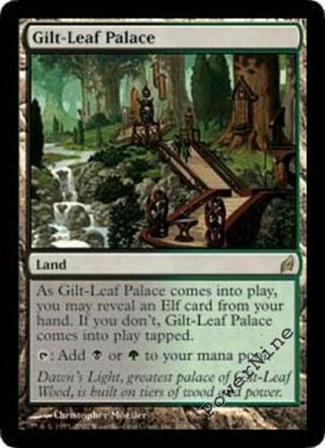 Land Lorwyn Mtg Magic Rare 1x x1 1 PLAYED Gilt-Leaf Palace