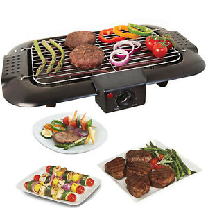 Griglia-ELETTRICA-TAVOLO-BBQ-Barbecue-Giardino-Campeggio-Cottura-2000W-Quest