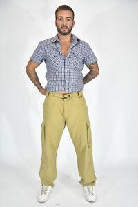 BELSTAFF-Pantaloni-Beige-In-Cotone-Taglia-IT-52-XL-Uomo-Man