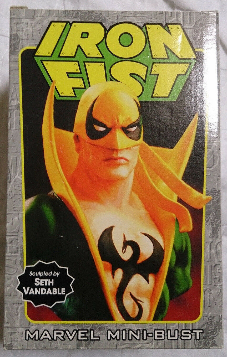 Marvel Comics Bowen Defenders Iron Fist mini bust statue with box VGC