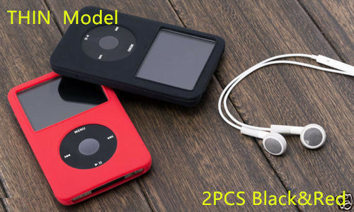 2XTHIN New Silicone Skin Cover Case for iPod Classic 7th 160GB 6th 80GB 120GB