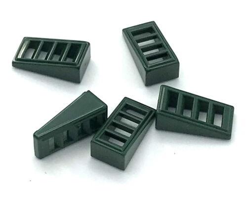 Lego 5 New Dunkelgrün Pisten Abgeschrägt 18 2 X 1 X 2/3 With 4 Slots Stücke LEGO Bausteine & Bauzubehör
