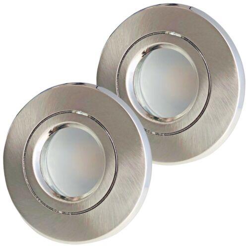 230V 9W LED IP54 Silber geb 1-10er Set Duschen und Bad Leuchten Aqua44