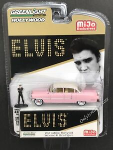 1955 Cadillac Fleetwood Series 60 /& Elvis Presley Figur 1:64 GreenLight 51210