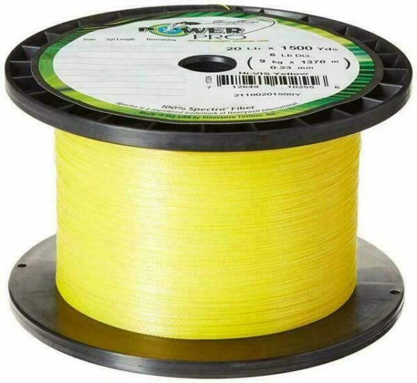 Braided Spectra Line 30lb by 500yds Yellow Power Pro 2587
