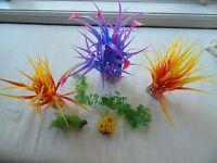 (6) Plastic Water Plants For Aquarium Aquatic Decoration Ornament, Up To 16