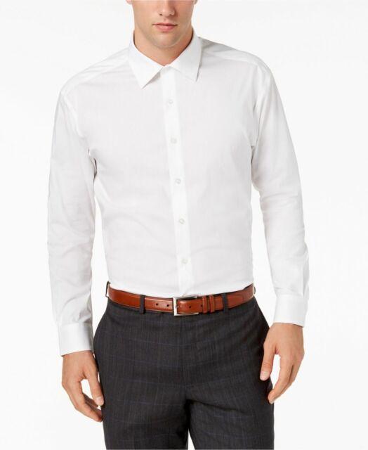 Alfani Mens Dress Shirt White Size 16 1//2 Triangle Printed Slim Fit $60 #163
