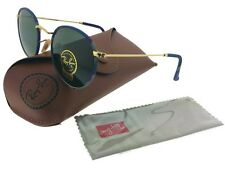 Ray-Ban RB3447JM-172 Round Unisex Multi-Gold Frame Green Lens Sunglasses NIB