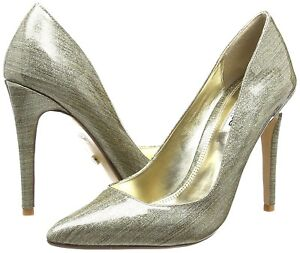 RRP £80 DUNE SIZE UK 3 4 7 8 AIYANA GOLD PATENT SHINY HIGH HEEL COURT SHOES BNWB