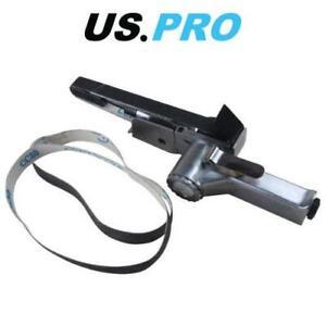 US-PRO-Tools-20mm-Air-Belt-Sander-With-Sanding-Belts-8318