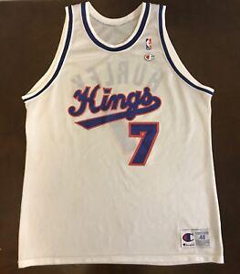 78375b278163 Image is loading Rare-Vintage-Champion-NBA-Sacramento-Kings-Bobby-Hurley-