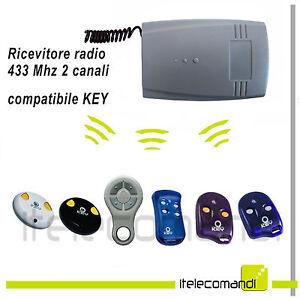 Amical Ricevente Radio Ricevitore 433 Mhz 2 Canali Compatibile Key Automation Tutti