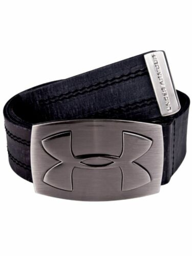 NWT Under Armour Belt   Leather  UA 550 w// Exploded  Logo  Color Black
