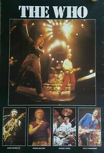 RARE-New-Original-VINTAGE-1980-THE-WHO-POSTER-HARD-TO-FIND-Pete-Townshend