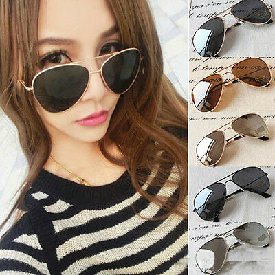 Unisex New Classic Silver Mirrored Lens Brown Gold Black Sunglasses f5