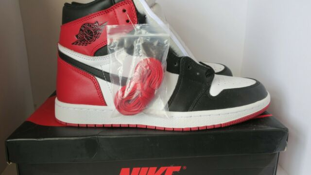 Nike Air Jordan Size 9.5 Retro High OG Sneakers - Red/Black/White