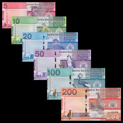 10 50 Dalasis 2015 Set of 4 Banknotes 4 PCS New Design UNC Gambia 5 20
