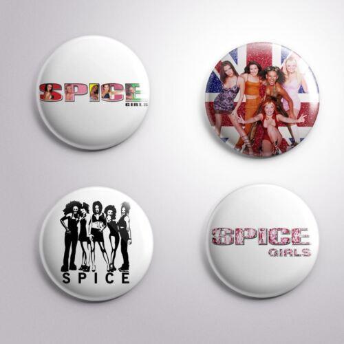 Pinbacks Badge Button 25mm 1/'/'.. 4 SPICE GIRLS