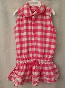 Girl-039-s-Pink-Girls-Pink-White-Plaid-Shirt-Top-Blouse-Size-3T
