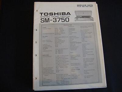 Ernst Original Service Manual Toshiba Sm-3750 Das Ganze System StäRken Und StäRken Tv, Video & Audio