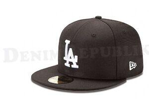 New Era 5950 LOS ANGELES DODGERS Black-White Cap MLB Baseball Basic LA Hat