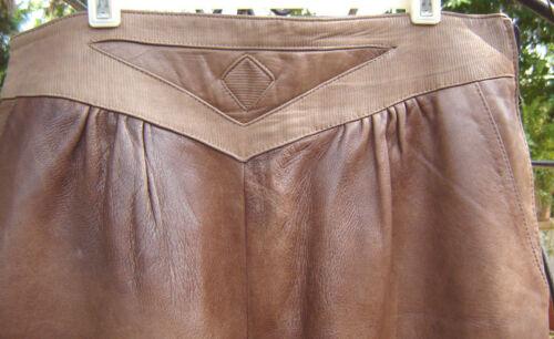 pelle Firenze Brown plissettato Rich 46 Taglia Pantalone Comodo Italia italiano stile in UwISpxqA5