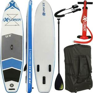 EXPLORER-11-0-SUP-Board-Stand-Up-Paddling-Surfboard-aufblasbar-Paddel-ISUP-Paddl