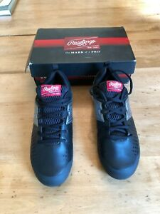 9a44f6f231de0 Details about Rawlings Boys Clubhouse Low Baseball Cleats Size 6  Black/Silver NEW IN BOX