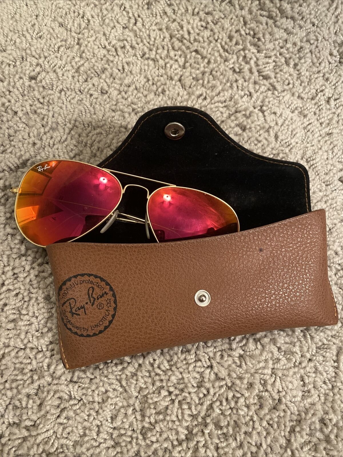 Women's Polarized Red Rayban Aviators - image 2