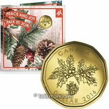 Canada 2016 Holiday 5 Coin Mint Gift Set w/ Special $1 Holly & Pine Cone Dollar