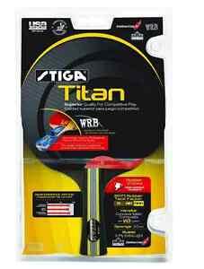 Stiga Titan Racket Table Tennis Paddle, Ping Pong, Quality High Performance, New