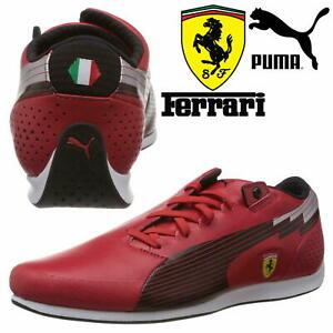 New-Puma-Ferrari-Evospeed-Mens-Motorsport-Casual-Trainer-Shoes-Red-24Hr-DELIVER