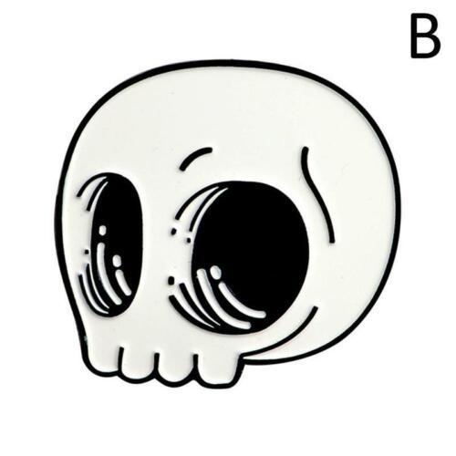 Verfluchte Emaille Abzeichen schwarz Gothic Pin Horror Brosche Goth Halloween
