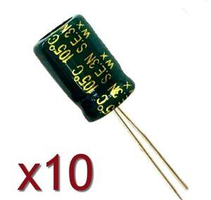 10x Condensateur électrolytique 6.3V 1000uF SANYO / 10x Aluminium Capacitor - France - État : Neuf: Objet neuf et intact, n'ayant jamais servi, non ouvert, vendu dans son emballage d'origine (lorsqu'il y en a un). L'emballage doit tre le mme que celui de l'objet vendu en magasin, sauf si l'objet a été emballé par le fabricant d - France