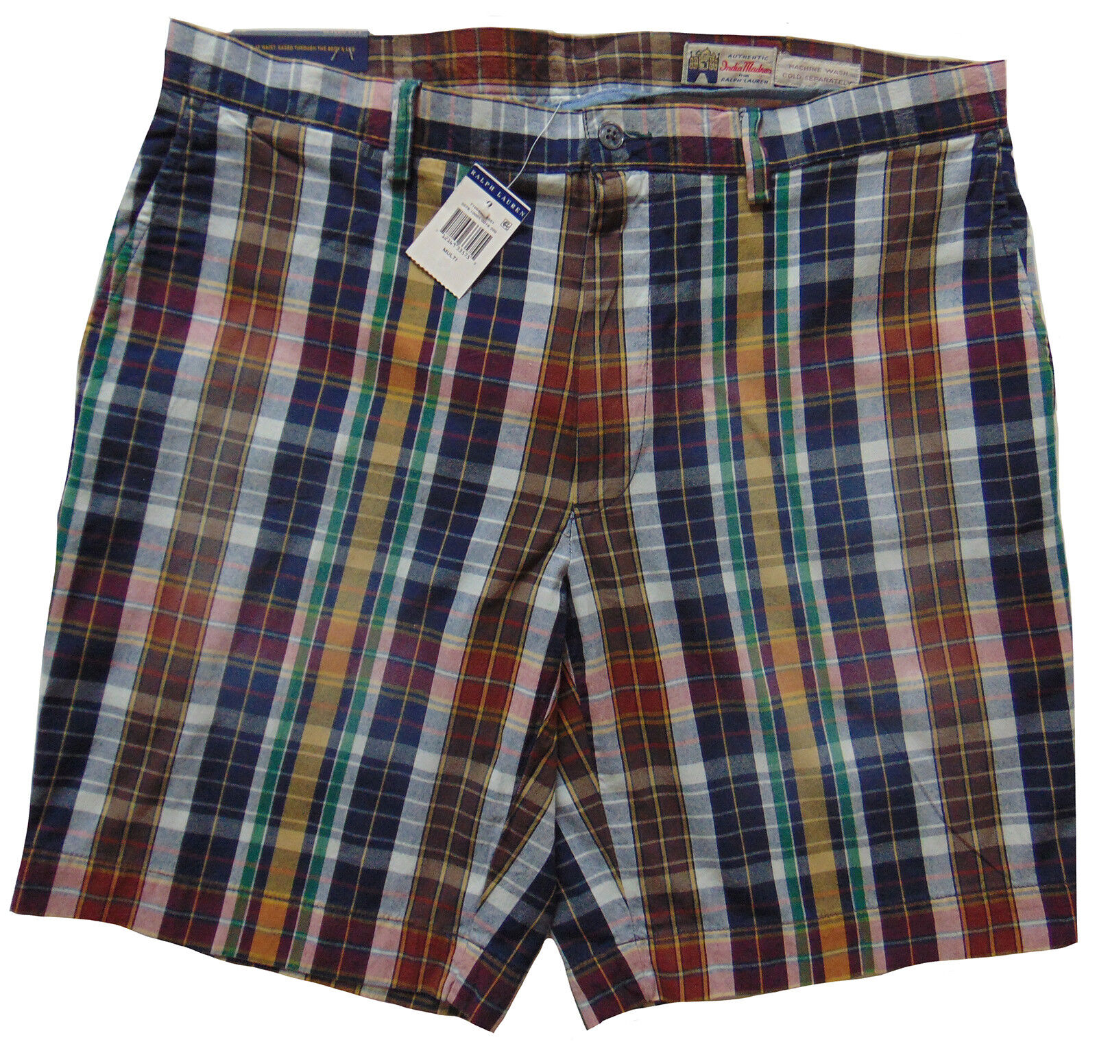 Men's POLO RALPH LAUREN colors Madras Plaid Shorts 38 NWT NEW Classic Fit 9  WoW