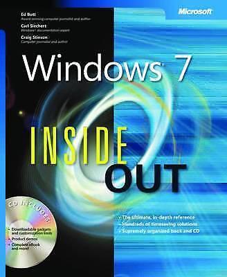 1 of 1 - Windows 7 Inside Out by Craig Stinson, Ed Bott, Carl Siechert (Mixed media...