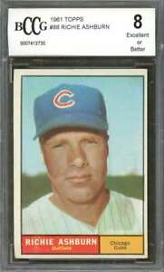 Richie-Ashburn-Card-1961-Topps-88-Chicago-Cubs-BGS-BCCG-8